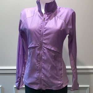 Sporty Nike light weight Lavender zip up jacket